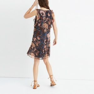 Madewell • NWT • Lily Ruffle Dress in Sea Floral